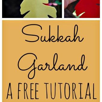 Felt Leaf Garland for the Sukkah