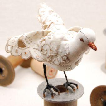 cut-work lace bird