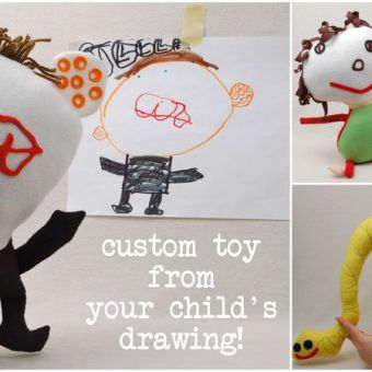 Custom Plush Toy From a Child's Drawing