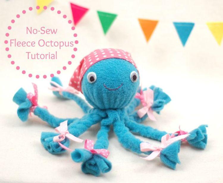 Fleece octopus tutorial