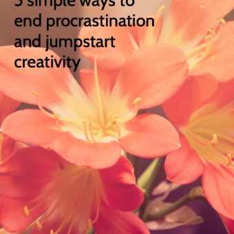 5 Simple Ways to End Procrastination and Jumpstart Creativity