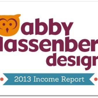 Abby Glassenberg Design 2013 Income Report