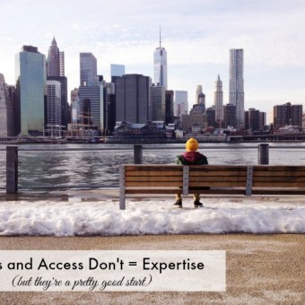 Tools and Access Don't Equal Expertise, But They're a Pretty Good Start