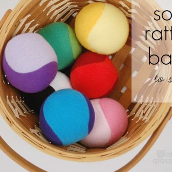 Soft Rattle Balls to Sew: Free Tutorial