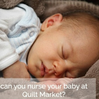 Can You Nurse Your Baby at Quilt Market?: Infants at Craft Industry Trade Shows
