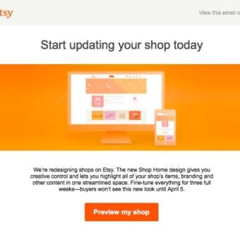 Etsy Unveils New Shop Look