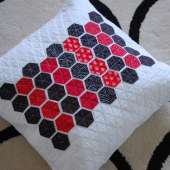 Modern Handcraft Hexie Pillow for Stella