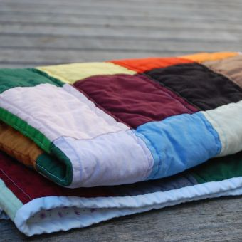 Solid Squares Baby Quilt