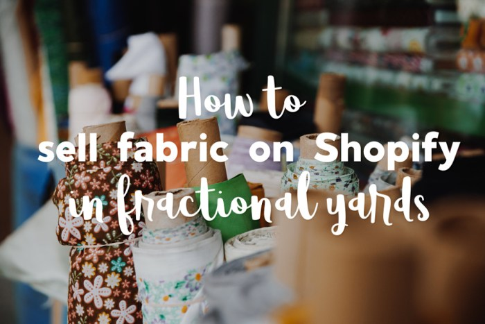 Sew Much Commerce Makes It Possible to Sell Fabric on