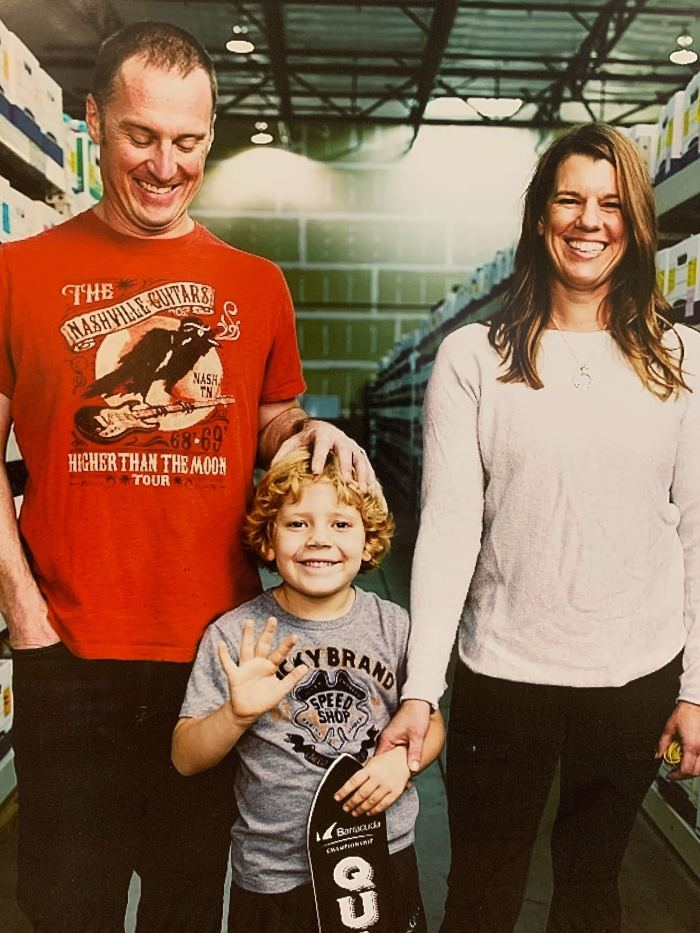 Laura Zander with her family