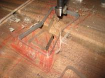 Drill press makes short work of hogging out the waste