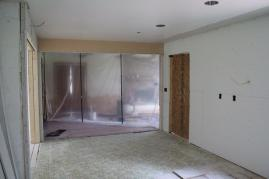 Looking into living room from kitchen