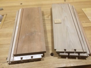 Two of the seven drawer sets