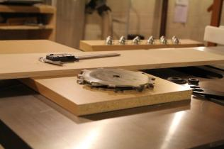 Using a scrap from the bottom to determine the groove width