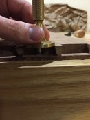 I even used the mortise gauge to clean things up.