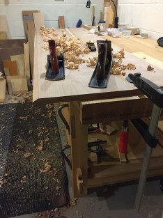 I followed up the jack with my Veritas jack plane set for a finish cut