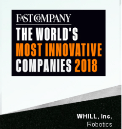 WHILL NAMED ONE OF THE MOST INNOVATIVE COMPANIES IN 2018 BY