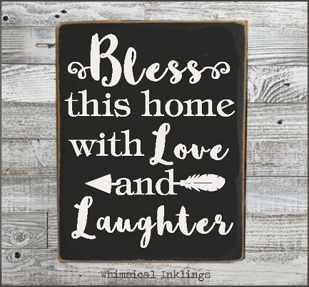 Download Bless this home with love and laughter SVG