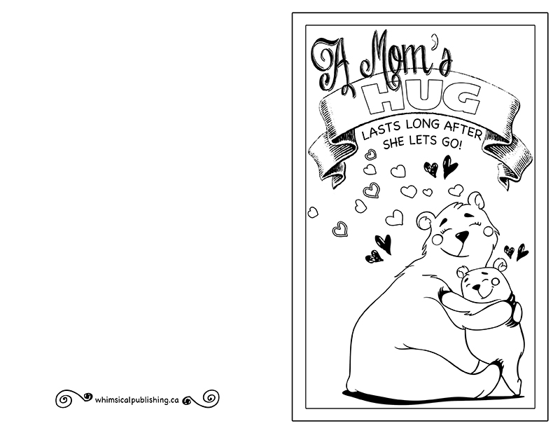 It is a picture of Printable Mothers Day Cards to Color Pdf intended for bubble letter
