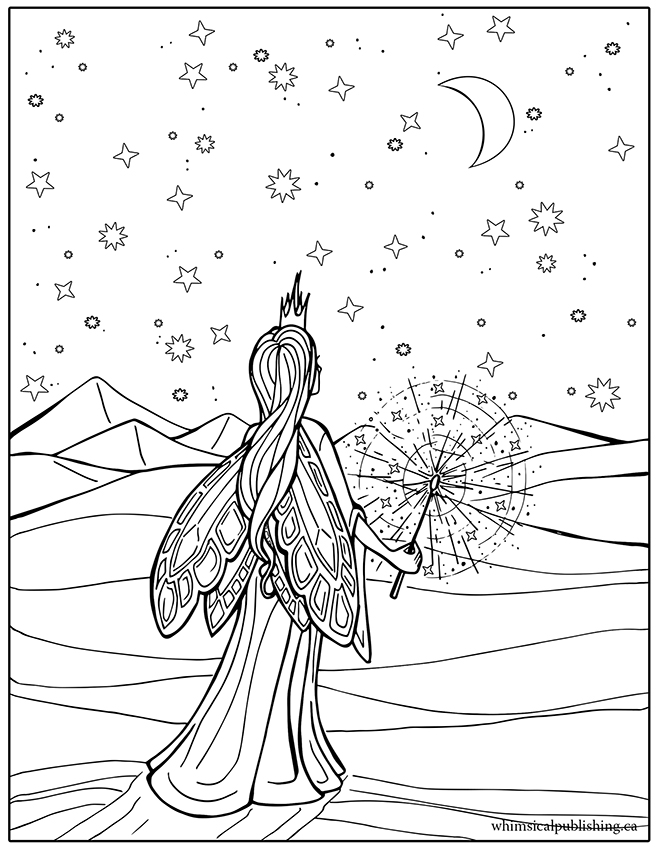 fairynights_colouringpage_small - Free Coloring Page