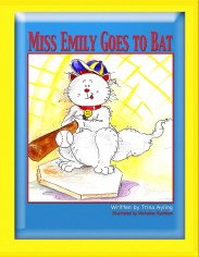 "Colorful pictures illustrate the exploits of a loveable cat named Miss Emily. This exciting story written in the rhyming tradition of Dr. Seuss enables boys and girls to explore human themes relevant to their own lives. Whether your child is an animal lover, baseball, sports or art lover, this book is sure to become a favorite of the whole family. Miss Emily the cat can't catch anything! William and Thomas are determined to help her be like other cats. They decide that she just needs a few lessons on catching. With the help of the local baseball coach they're certain Miss Emily will finally learn. But things run afoul just as she hits her first home run. William and Thomas are sure they've struck out but soon discover that catching isn't the only way to earn MVP –""Most Valuable Pussycat""."