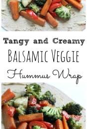 Balsamic Veggie Hummus Wrap