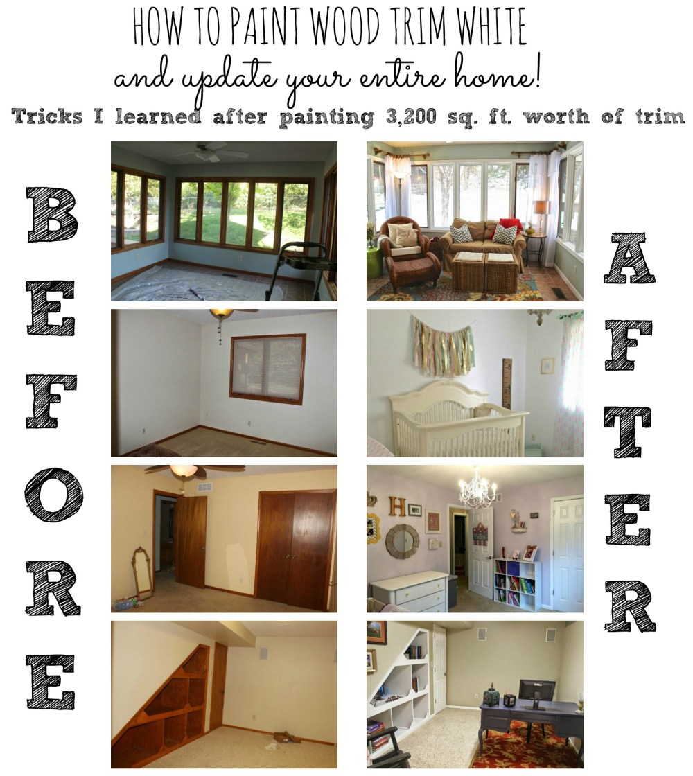Painting your trim is one of the cheapest ways to update your home. Here are some tips and tricks I learned along the way to make this process as simple and painless as possible!