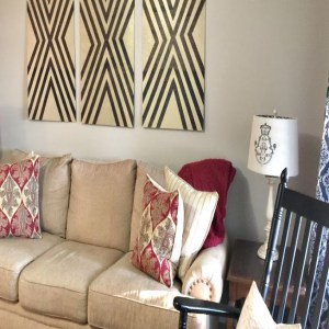 DIY Wall Art & A Living Room Wish List