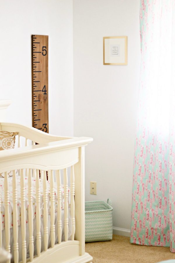 Baby girl nursery Inspiration | Mint, Pink, and Gold | All sources are linked! Click here to find out how to put together a beautiful, feminine, achievable mint, pink, and gold nursery! | Whimsical September