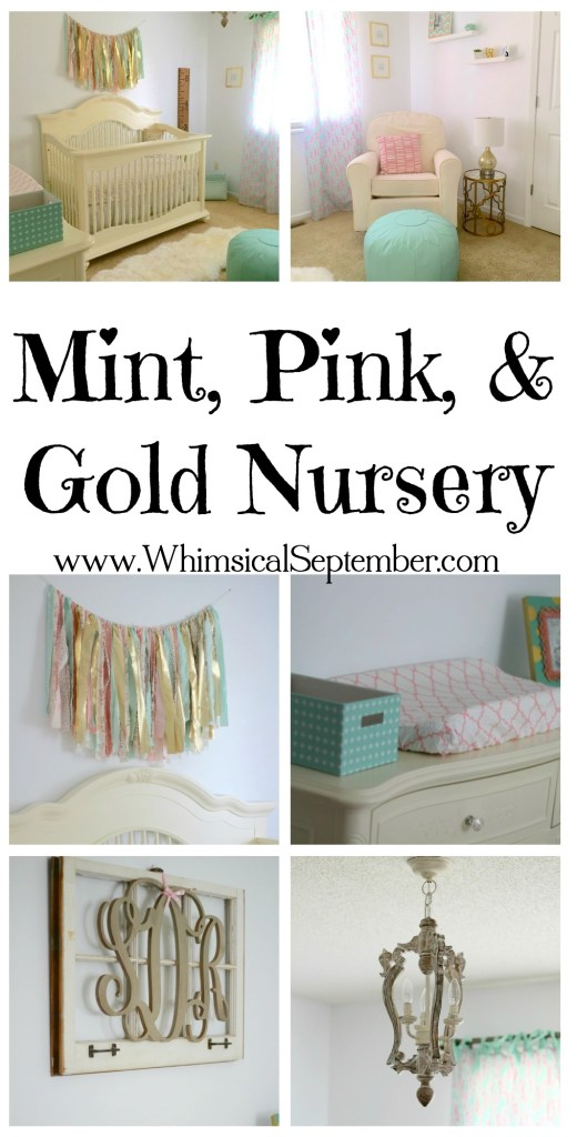 Mint, Pink, and Gold Nursery