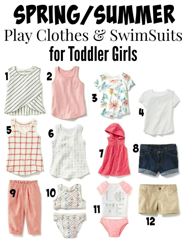 Spring and Summer Play Clothes for Toddler Girls from Old Navy
