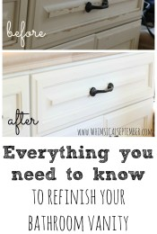 DIY Refinished Bathroom Vanities with Chalk Paint