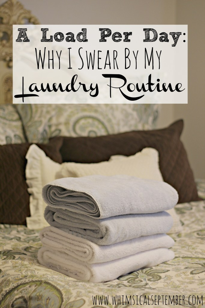 My number one laundry tip of all time is to do a single load every day. As a busy mom with two young children and a husband who wears four outfits a day, doing a load every morning is a lifesaver! Click here to read more about how I seamless work this tip into our everyday lives.