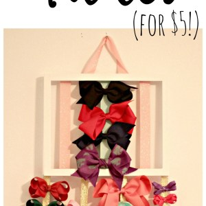 DIY Hair Bow Holder: Quick and Easy and Ready to Hang
