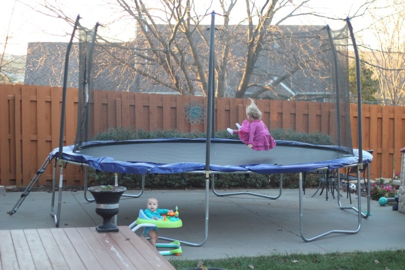 15' Skywalker Trampoline :If you're in the market for a family trampoline, we would definitely suggest this one, as we've been thrilled with it so far.