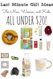 Last Minute Gift Ideas Under $20 For Men, Women, and Kids
