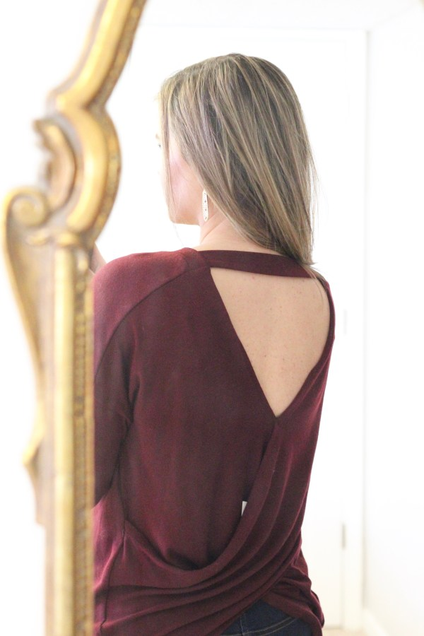 Le Lis Raymon Cross Back Knit Top | Stitch Fix