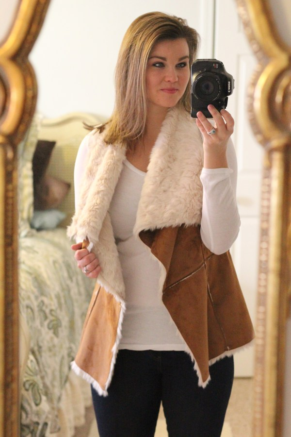 Stitch Fix |Tinsel Finnmark Faux Suede and Faux Fur Vest