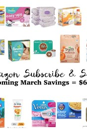 Our Upcoming Deals with Amazon's Subscribe & Save – March 2017