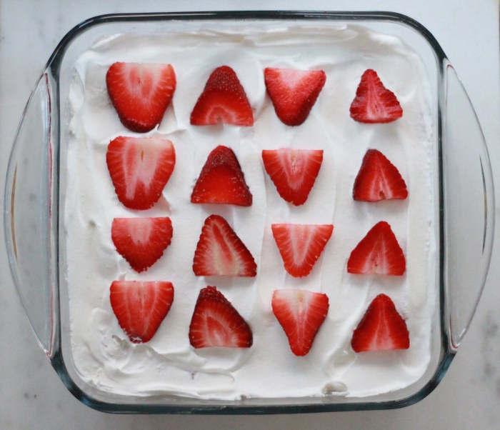 Strawberry Shortcake Recipe: This strawberry shortcake recipe calls for three ingredients and will take you no more than 10 minutes to whip together. Grab a store-bought angel food cake, a tub of whipped cream, and a pound of strawberries, and you're well on your way to a crowd-pleasing, effortless dessert.