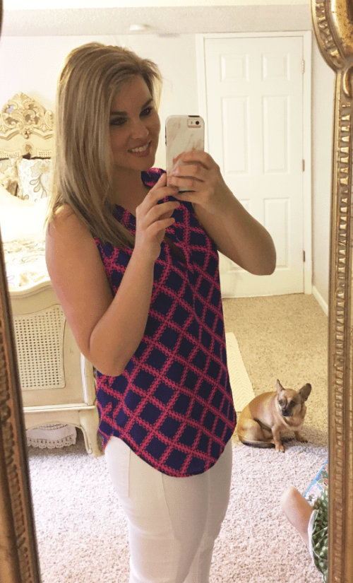 Stitch Fix Review #19: April 2017 Whimsical September Stitch Fix Review April 2017: 41Hawthorne Neck Blouse