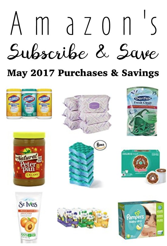 Amazon's Subscribe and Save - May 2017 Purchases and Savings