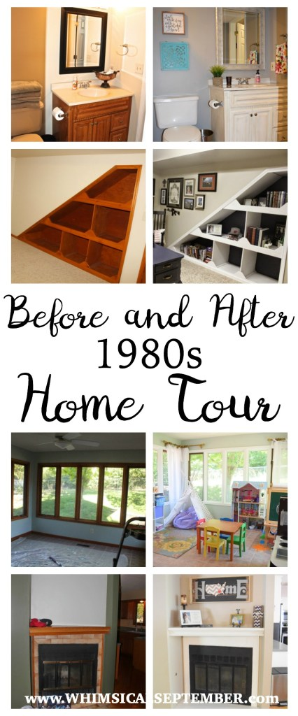 Before and After 1980s Home Tour: In 2.5 years we painted every single wall, cabinet, trim, and doorway in our home and completely transformed it. Take a virtual walk through as I show you paint colors, how tos, decor, and more.