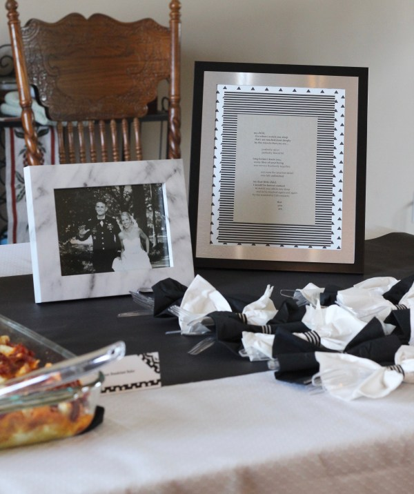 "A Black and White ""Little Man"" Themed Brunch Baby Shower"