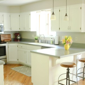 Chalk Painted Kitchen Cabinets Transformation: From Honey Oak to Bright White