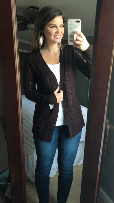 Stitch Fix November 2017: Ronny Pointelle Detail Cardigan