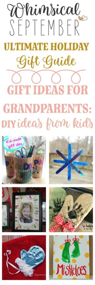 Homemade Grandparent Gifts for Christmas: Six ideas that will make every one of your recipients smiles. Most of these ideas are cheap, quick, and can be made in bulk for everyone in the family.