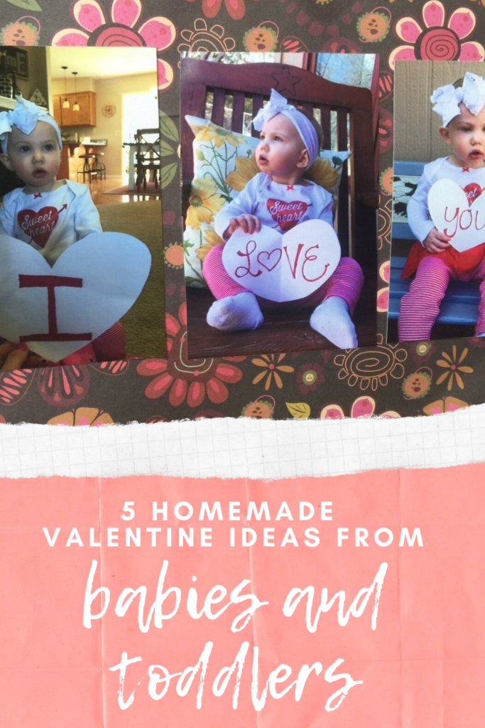 Here are five homemade Valentines from babies and toddlers to send to your spouse, relatives, and friends that will make them smile from ear to ear. Great craft ideas that get your kid involved. More on WhimsicalSeptember.com