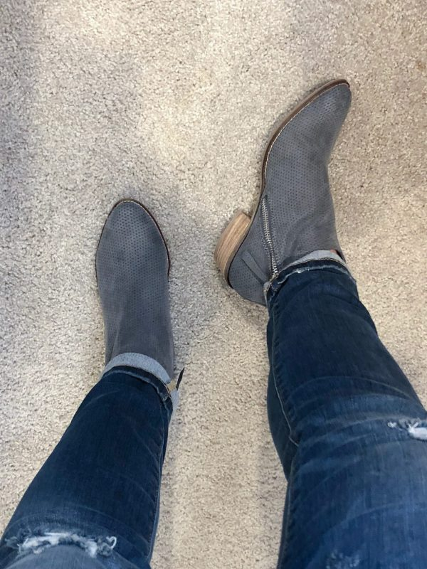 STITCH FIX |DV8: Chyro Perforated Faux Suede Bootie
