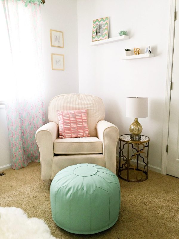 Big girl bedroom makeover: Mint, Pink, and Gold bedroom | Click here for full list of sources!